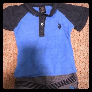 US Polo blue and black and gray set!!! Super cute